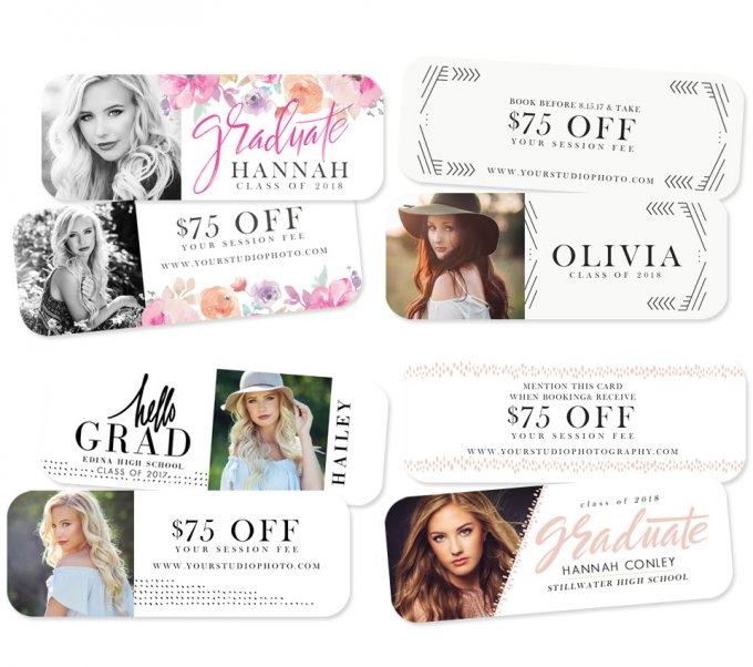 Modern Senior Rep Cards by Jamie Schultz Designs