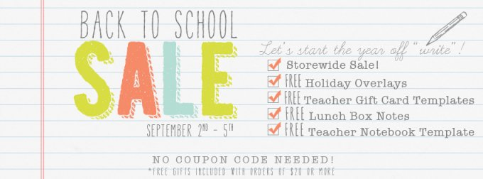 Back to School Sale at Jamie Schultz Designs