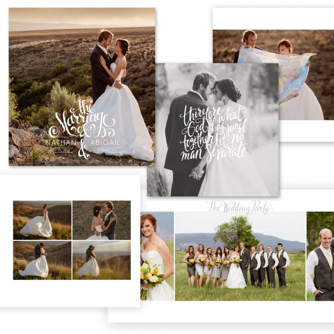 The Hand Lettered Wedding Album template by Jamie Schultz Designs
